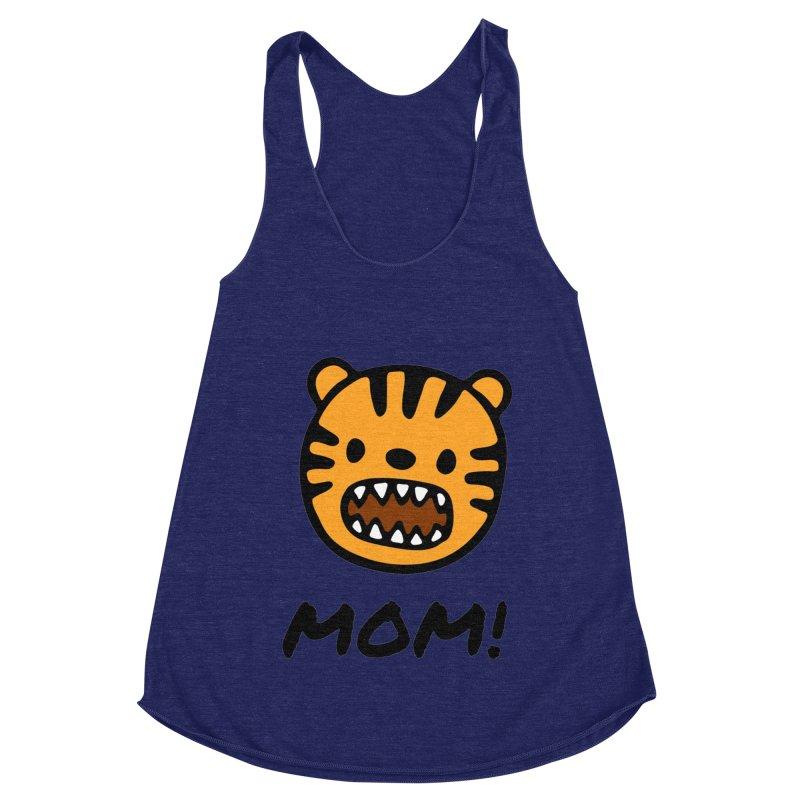 Tiger Mom Women's Racerback Triblend Tank by Dark Helix's Artist Shop