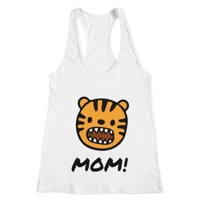 Tiger Mom Women's Racerback Tank by Dark Helix's Artist Shop
