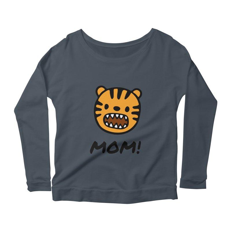 Tiger Mom Women's Scoop Neck Longsleeve T-Shirt by Dark Helix's Artist Shop