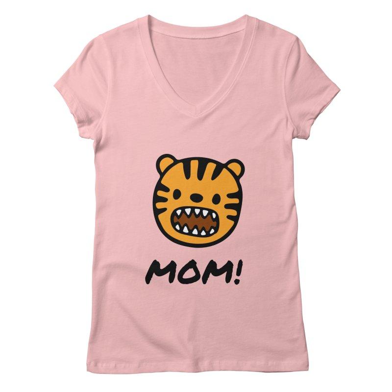 Tiger Mom Women's Regular V-Neck by Dark Helix's Artist Shop