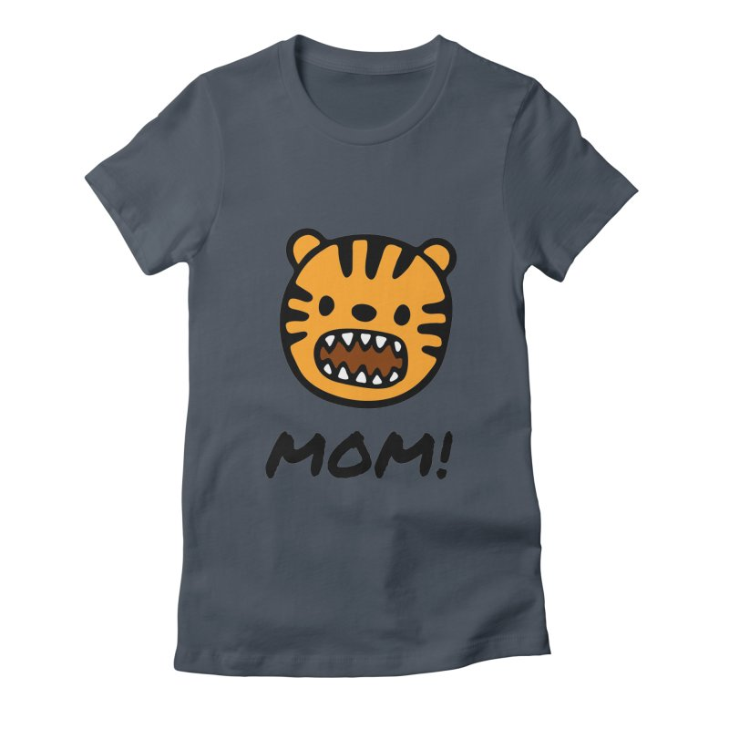 Tiger Mom Women's Fitted T-Shirt by Dark Helix's Artist Shop