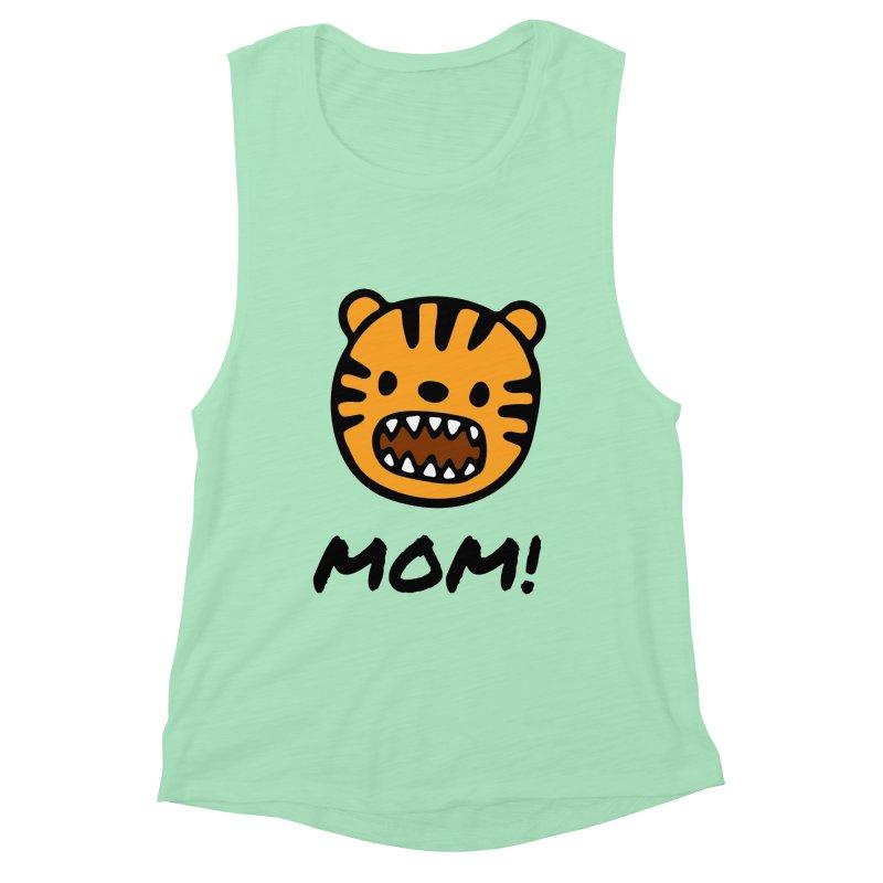 Tiger Mom Women's Muscle Tank by Dark Helix's Artist Shop