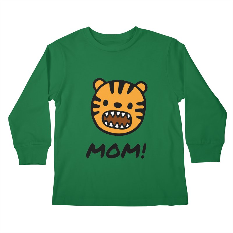 Tiger Mom Kids Longsleeve T-Shirt by Dark Helix's Artist Shop