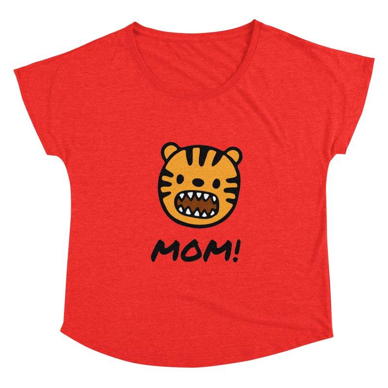 Tiger Mom Women's Scoop Neck by Dark Helix's Artist Shop