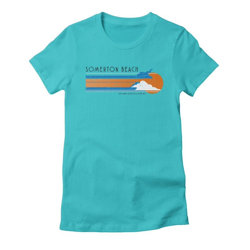 Somerton Beach Women's Fitted T-Shirt by darkhistories's Artist Shop