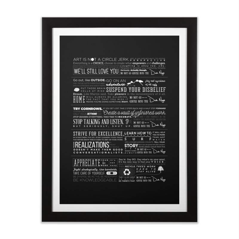 Manifesto Home Framed Fine Art Print by Dark Nights
