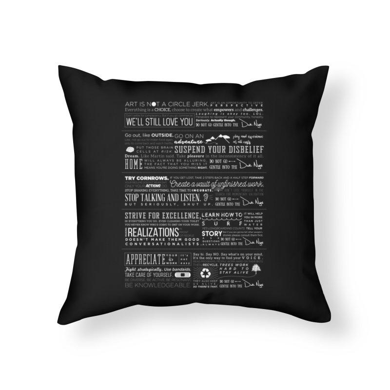 Manifesto Home Throw Pillow by Dark Nights