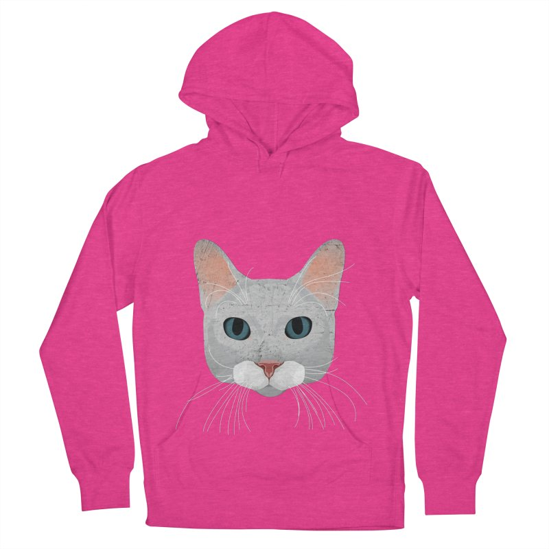 Cat Ramona Men's French Terry Pullover Hoody by darkodjordjevic's Artist Shop