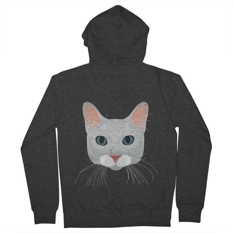 Cat Ramona Men's Zip-Up Hoody by darkodjordjevic's Artist Shop