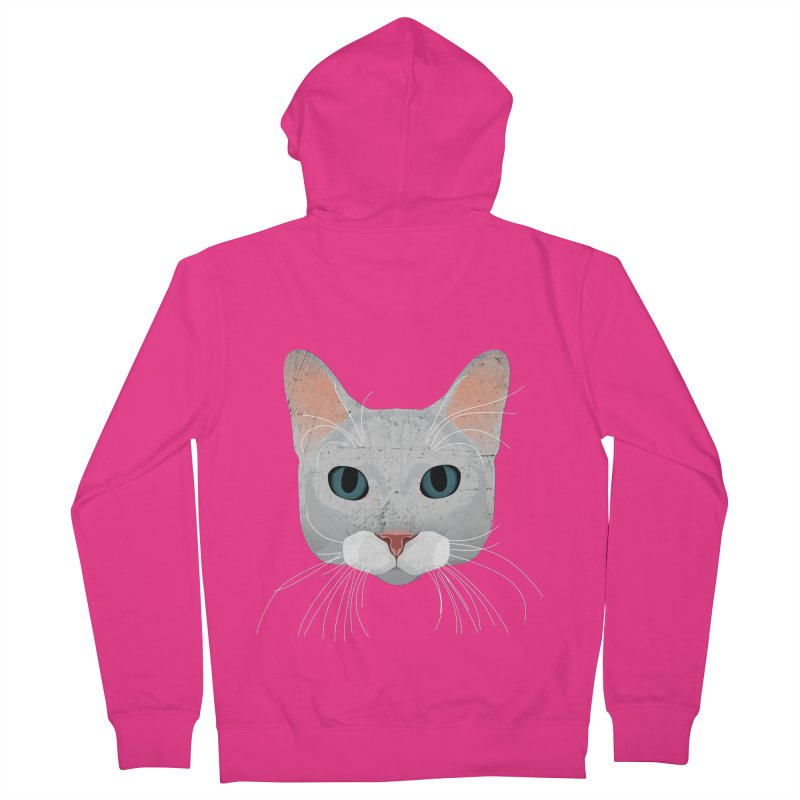 Cat Ramona Men's Zip-Up Hoody by darkodjordjevic's Artist Shop