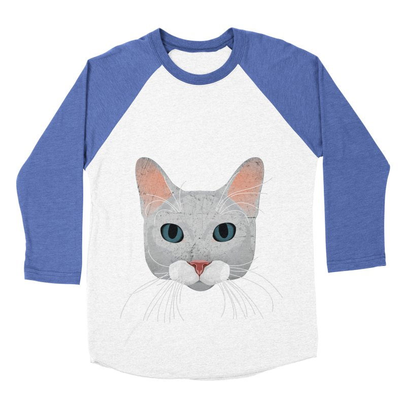 Cat Ramona Men's Baseball Triblend T-Shirt by darkodjordjevic's Artist Shop