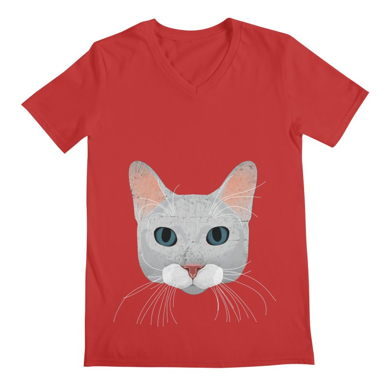 Cat Ramona Men's V-Neck by darkodjordjevic's Artist Shop