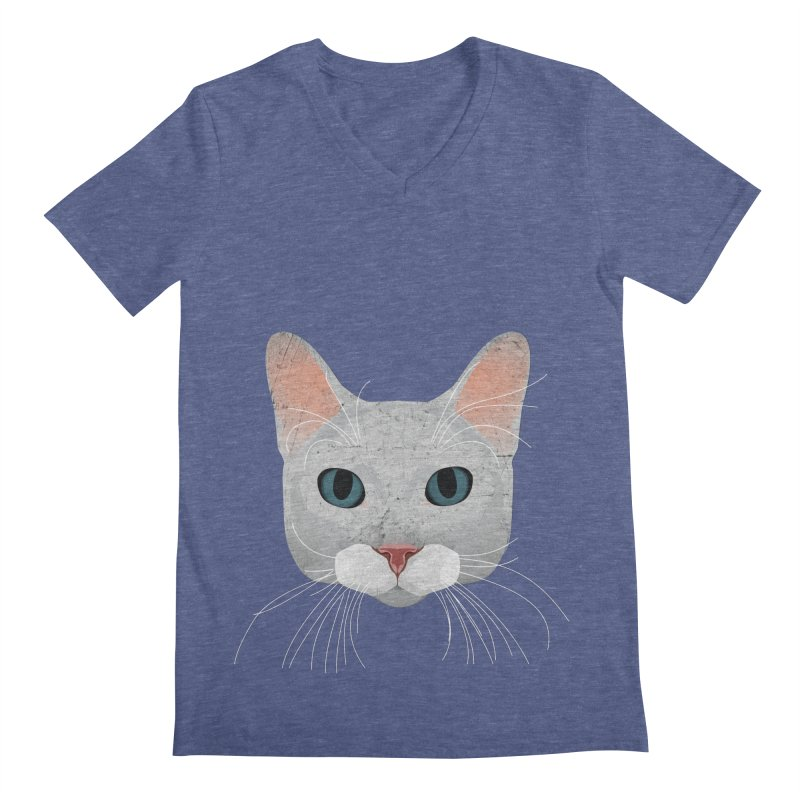 Cat Ramona Men's Regular V-Neck by darkodjordjevic's Artist Shop