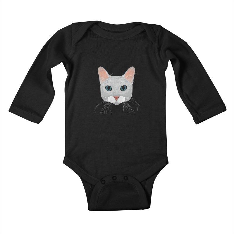 Cat Ramona Kids Baby Longsleeve Bodysuit by darkodjordjevic's Artist Shop