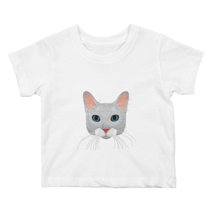 Cat Ramona Kids Baby T-Shirt by darkodjordjevic's Artist Shop
