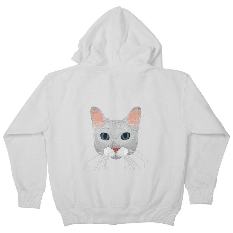 Cat Ramona Kids Zip-Up Hoody by darkodjordjevic's Artist Shop