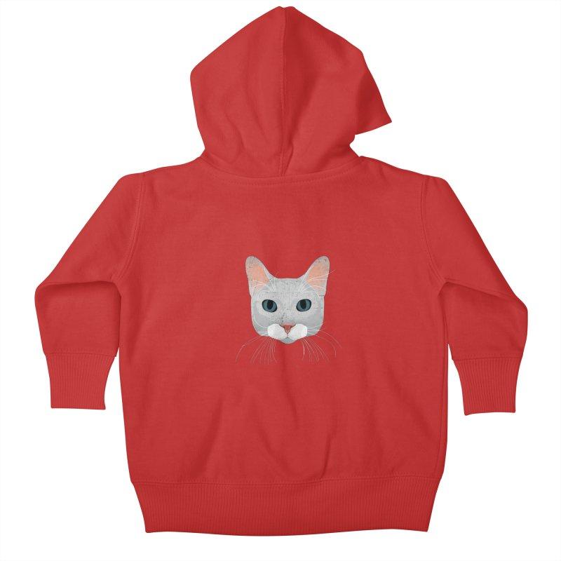 Cat Ramona Kids Baby Zip-Up Hoody by darkodjordjevic's Artist Shop