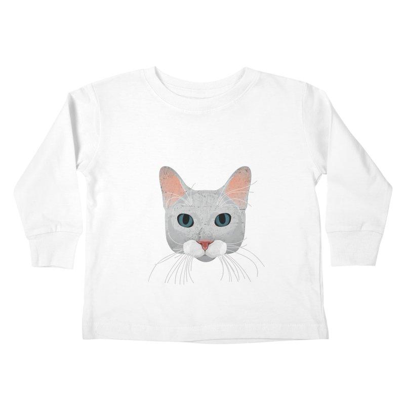 Cat Ramona Kids Toddler Longsleeve T-Shirt by darkodjordjevic's Artist Shop