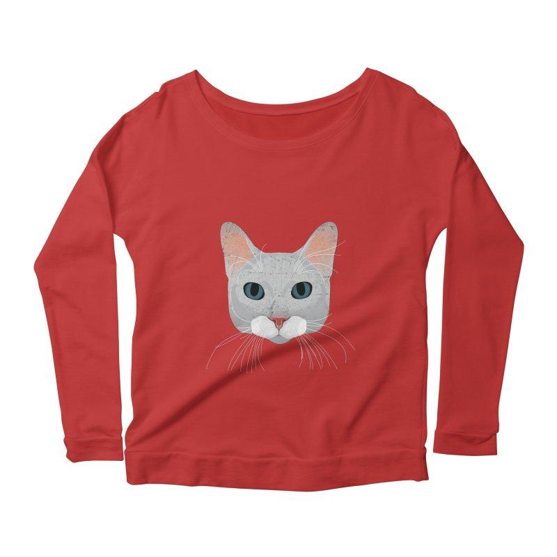 Cat Ramona Women's Scoop Neck Longsleeve T-Shirt by darkodjordjevic's Artist Shop