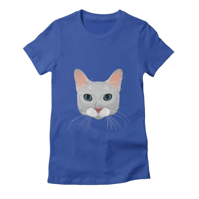 Cat Ramona Women's Fitted T-Shirt by darkodjordjevic's Artist Shop