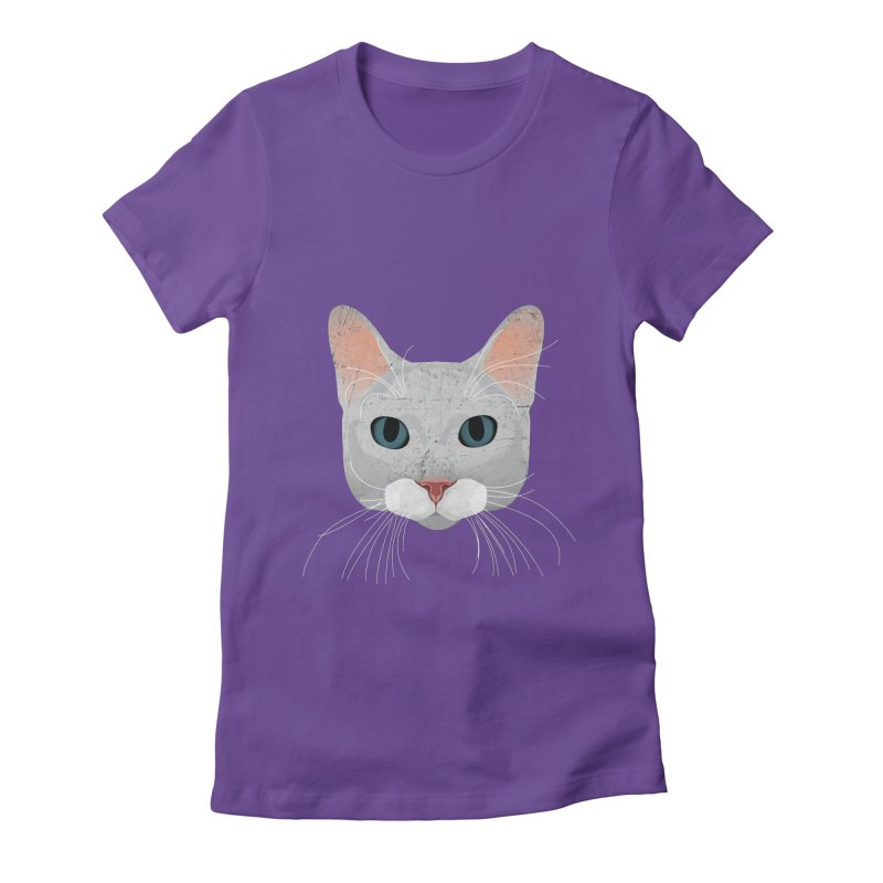 Cat Ramona Women's Fitted T-Shirt by darkodjordjevic's Artist Shop
