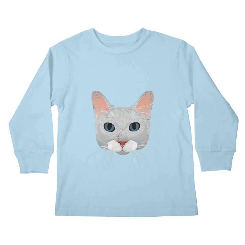 Cat Ramona Kids Longsleeve T-Shirt by darkodjordjevic's Artist Shop