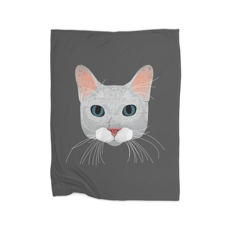 Cat Ramona Home Fleece Blanket Blanket by darkodjordjevic's Artist Shop