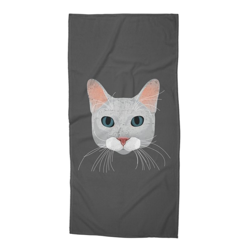 Cat Ramona Accessories Beach Towel by darkodjordjevic's Artist Shop