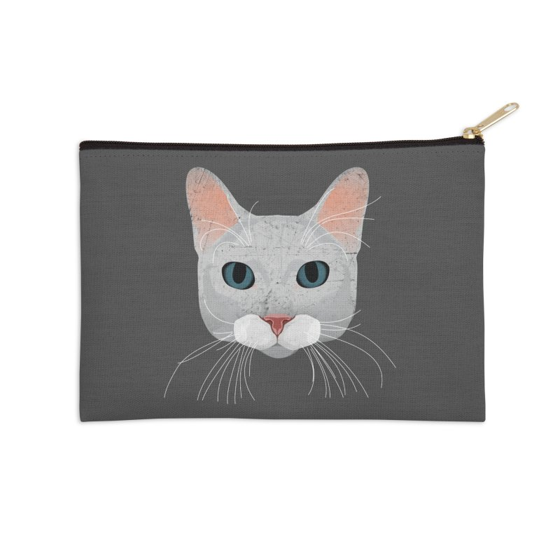 Cat Ramona Accessories Zip Pouch by darkodjordjevic's Artist Shop