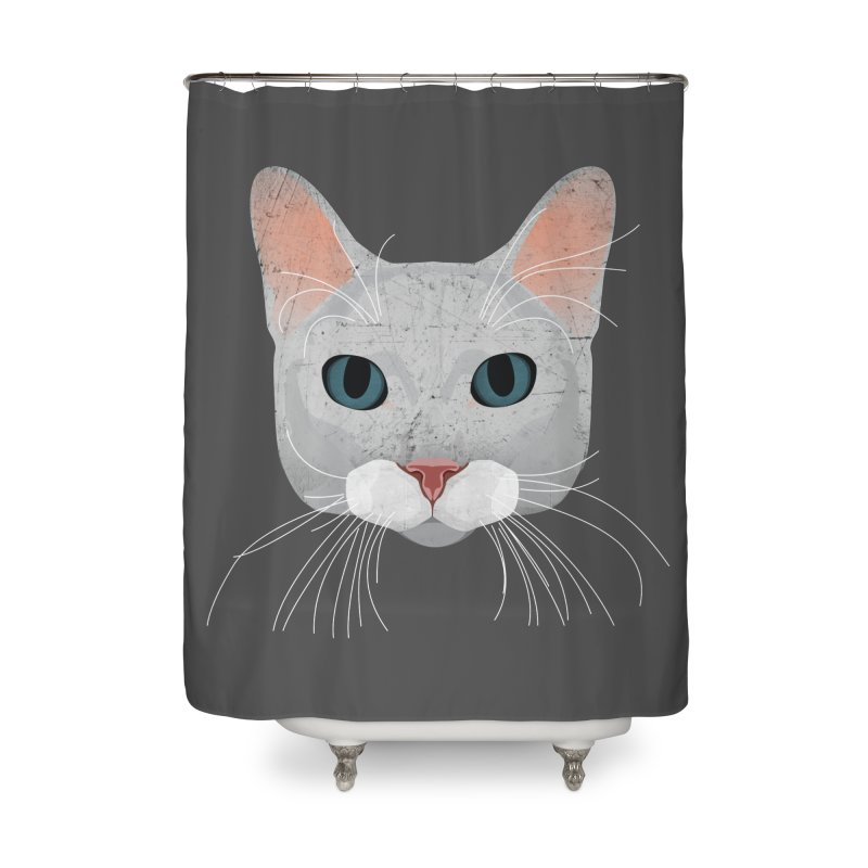 Cat Ramona Home Shower Curtain by darkodjordjevic's Artist Shop
