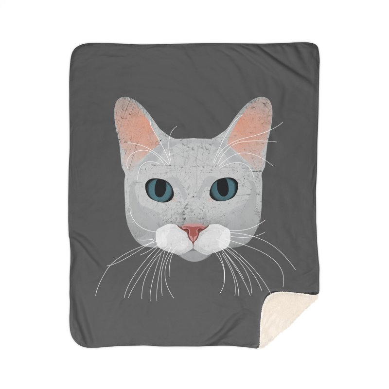 Cat Ramona Home Sherpa Blanket Blanket by darkodjordjevic's Artist Shop