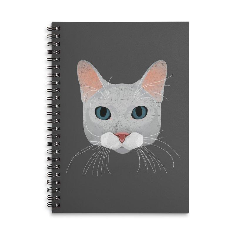 Cat Ramona Accessories Lined Spiral Notebook by darkodjordjevic's Artist Shop