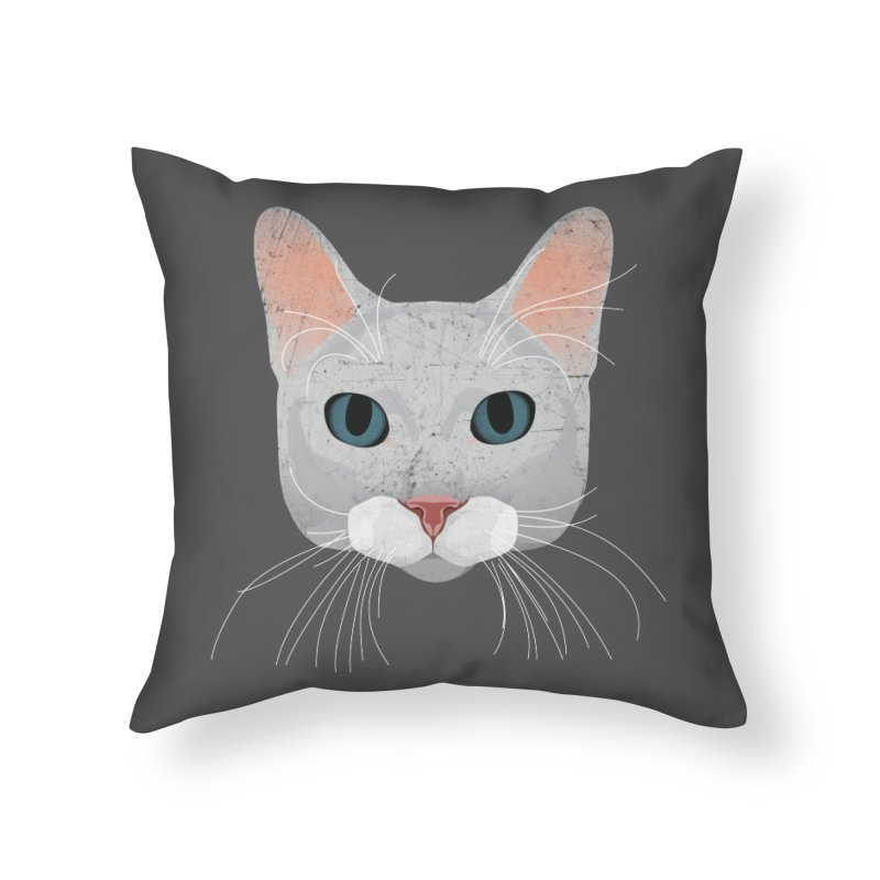 Cat Ramona Home Throw Pillow by darkodjordjevic's Artist Shop