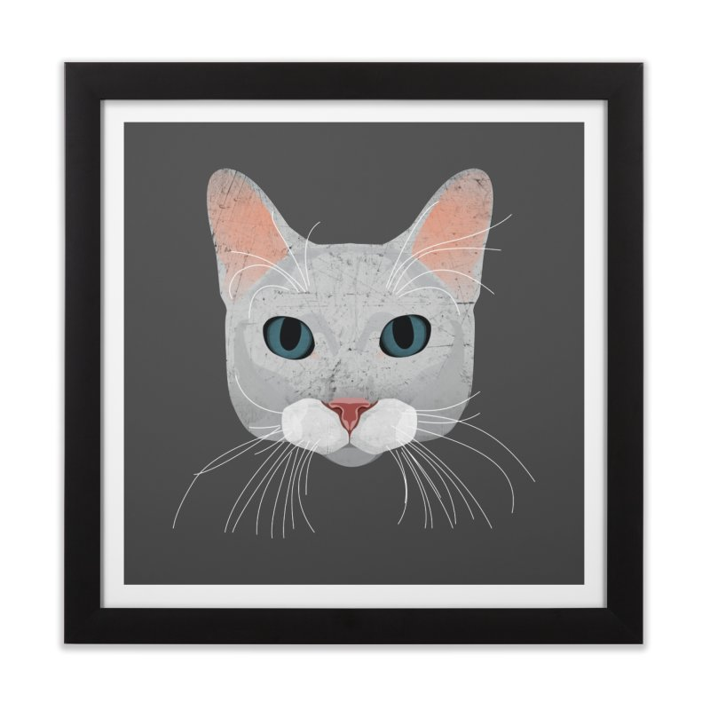 Cat Ramona Home Framed Fine Art Print by darkodjordjevic's Artist Shop
