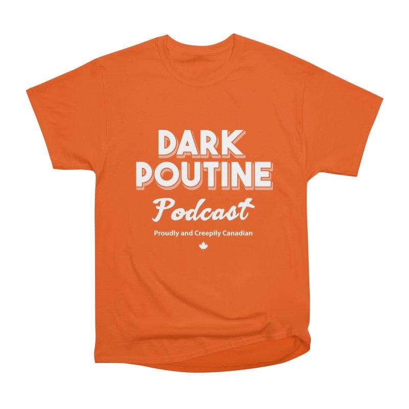 Old School Dark Poutine Logo Men's T-Shirt by Dark Poutine Podcast Swag