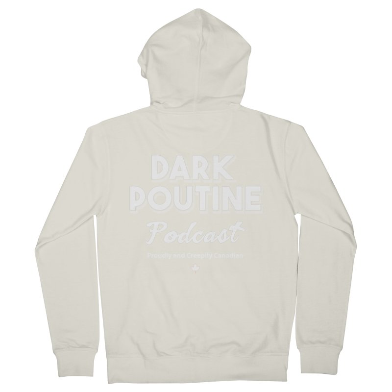 Old School Dark Poutine Logo Women's French Terry Zip-Up Hoody by Dark Poutine Podcast Swag