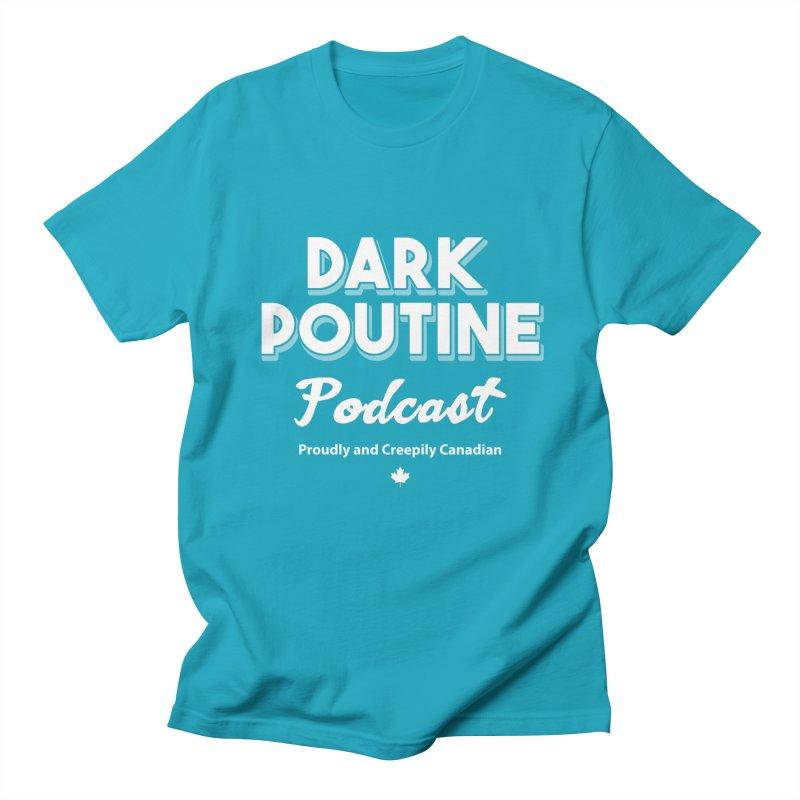 Old School Dark Poutine Logo Women's Regular Unisex T-Shirt by Dark Poutine Podcast Swag