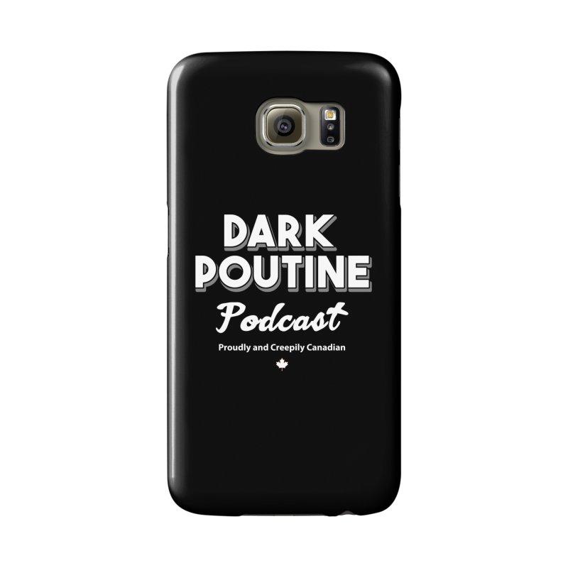 Old School Dark Poutine Logo Accessories Phone Case by Dark Poutine Podcast Swag