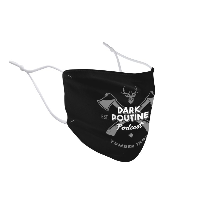 Yumber Yard Logo Accessories Face Mask by Dark Poutine Podcast Swag