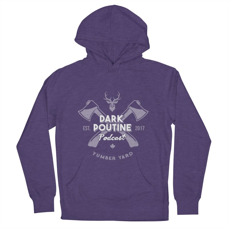 Yumber Yard Logo Men's French Terry Pullover Hoody by Dark Poutine Podcast Swag