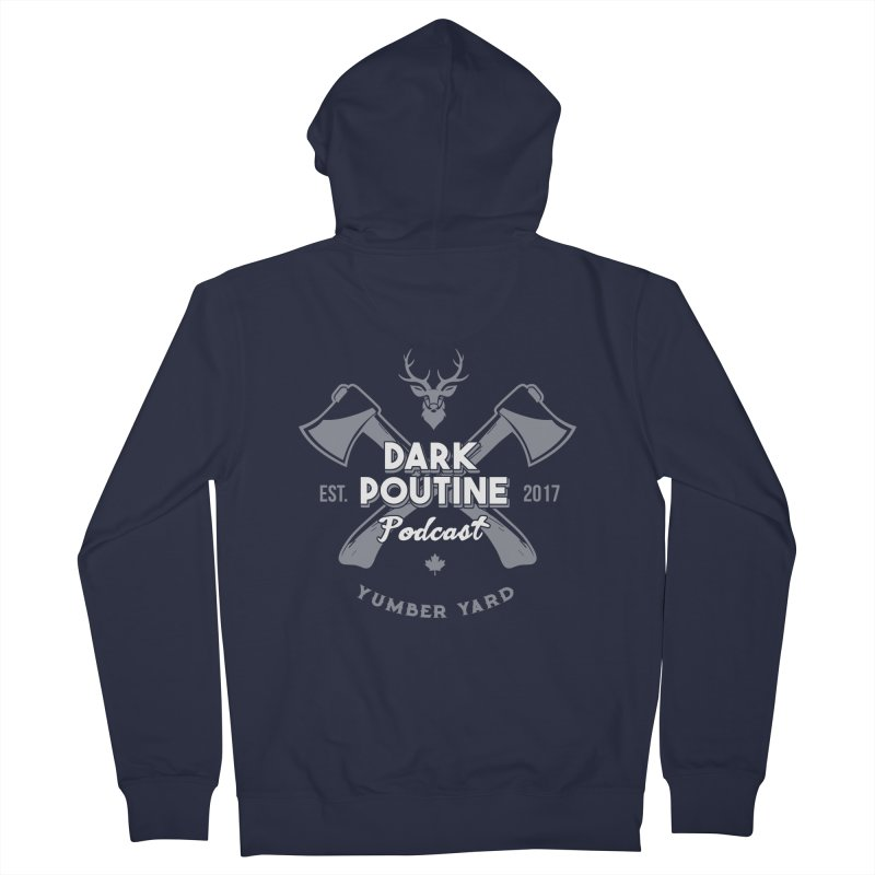 Yumber Yard Logo Men's French Terry Zip-Up Hoody by Dark Poutine Podcast Swag