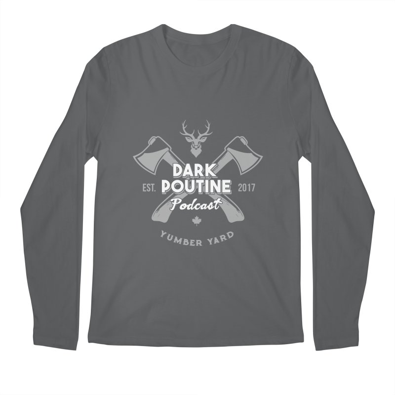 Yumber Yard Logo Men's Regular Longsleeve T-Shirt by Dark Poutine Podcast Swag