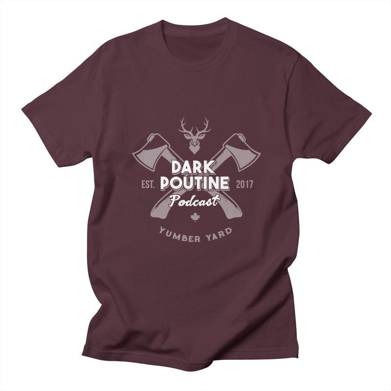 Yumber Yard Logo Men's Regular T-Shirt by Dark Poutine Podcast Swag