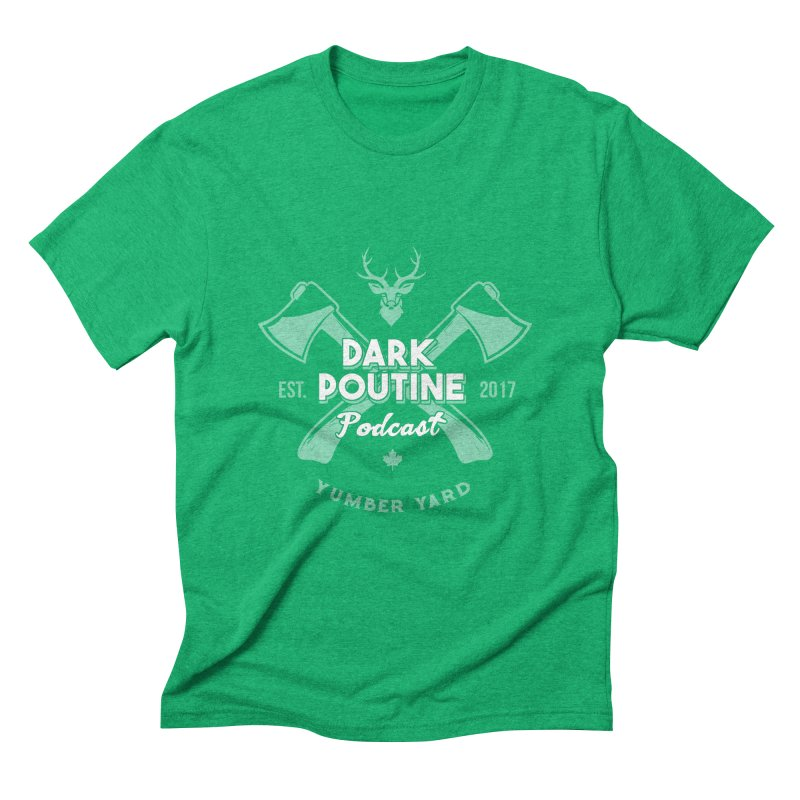 Yumber Yard Logo Men's Triblend T-Shirt by Dark Poutine Podcast Swag
