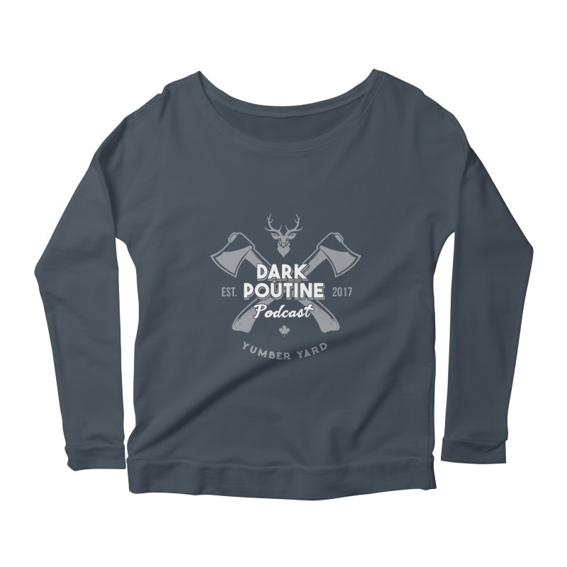 Yumber Yard Logo Women's Scoop Neck Longsleeve T-Shirt by Dark Poutine Podcast Swag