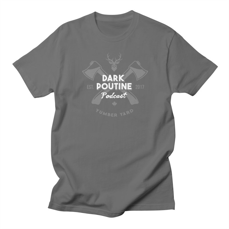 Yumber Yard Logo Men's T-Shirt by Dark Poutine Podcast Swag