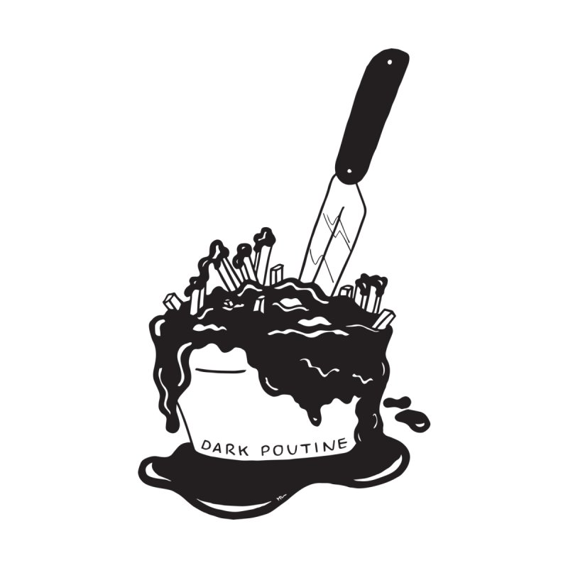Madison's Dark Poutine - BLACK Women's Longsleeve T-Shirt by Dark Poutine Podcast Swag