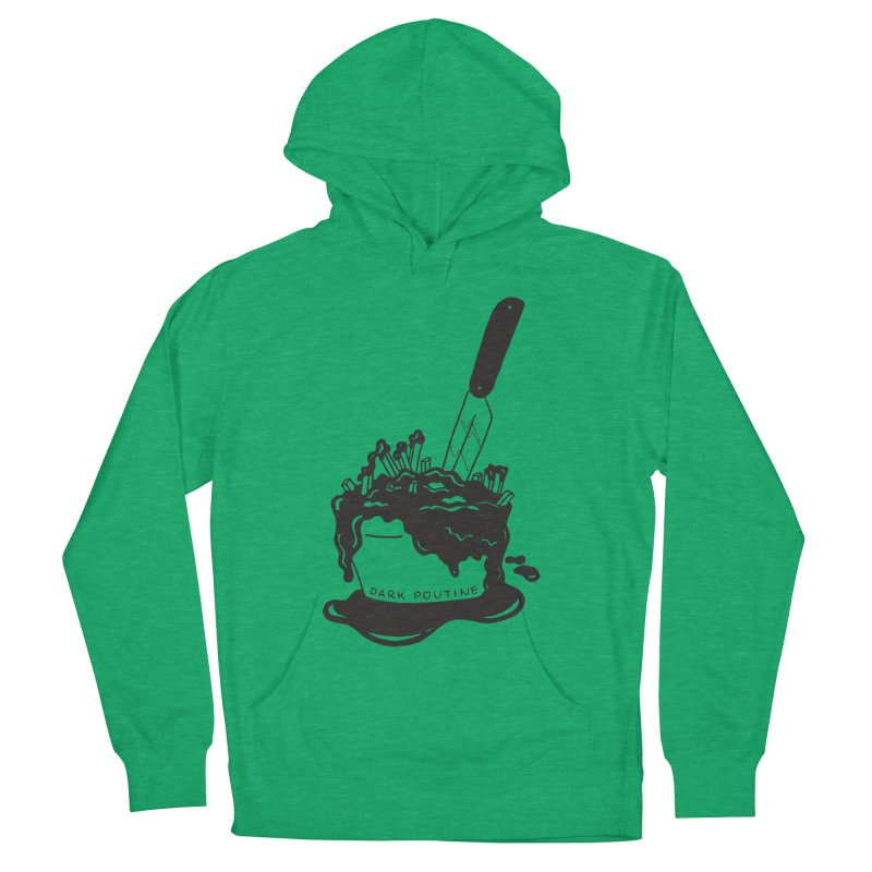 Madison's Dark Poutine - BLACK Women's French Terry Pullover Hoody by Dark Poutine Podcast Swag