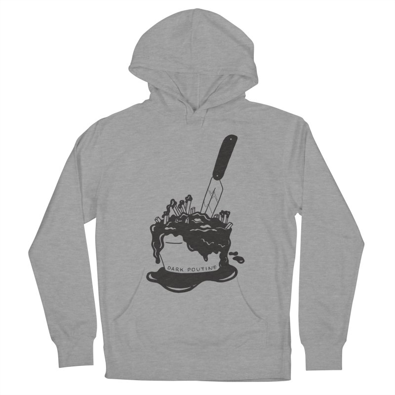 Madison's Dark Poutine - BLACK Men's French Terry Pullover Hoody by Dark Poutine Podcast Swag