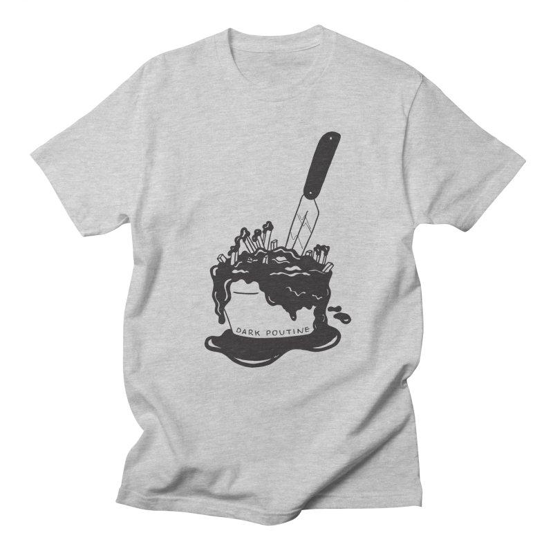 Madison's Dark Poutine - BLACK Men's Regular T-Shirt by Dark Poutine Podcast Swag